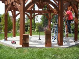 gazebo rescues wedding reception western timber frame