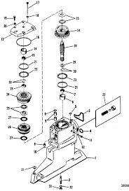 mercruiser bravo one driveshaft housing u0026 drive gears parts