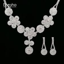 jewelry sets 2018 ecesha bridal jewelry sets big flower pendant