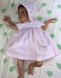 mayoral small newborn pink baby dress with and bonnet