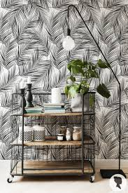 palm leaves removable wallpaper self adhesive peel and stick