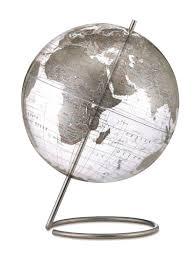 world globe home decor mid century modern style transparent silver world globe 12