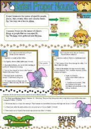 proper nouns and common nouns safari fun