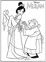 20 dessins de coloriage Mulan 2 à imprimer