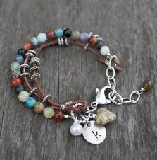 cord bracelet with beads images Leather and bead bracelet patterns jewelry jpg