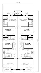traditional multi unit duplex house plan 153 1324