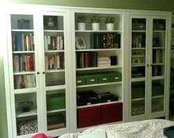 Wooden Bookcase With Glass Doors Bookcase Glass Door Wood Bookcases With Sliding Glass Doors Solid