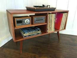 mid century record cabinet refinished record player cabinet new mid century modern record