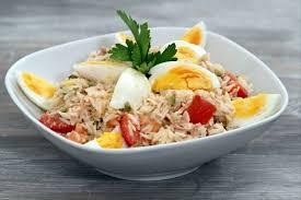 cuisine salade de riz recette de salade de riz au thon à notre façon facile et rapide