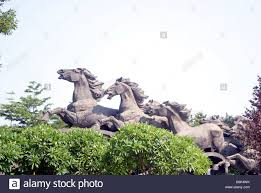 Nice Hourse Shenzhen China Horse Sculpture Ganoderma Lucidum Park In