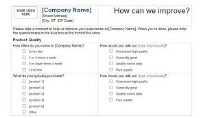 free printable questionnaire template sample training survey