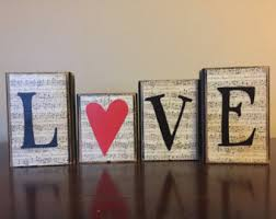 Fireplace Decorations For Valentine S Day by Valentine U0027s Day Wood Love Blocks Valentines Day Blocks