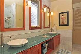 Bathrooms With Mirrors by 20 Bathrooms With Glass Countertop Designs
