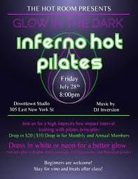 glow in the dark pilates in indianapolis at the room