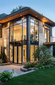 Contemporary Home Interior Straight Lines Large Long Windows Such A Modern Home Yet