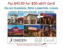 longhorn gift cards 50 darden egift card for 42 50 olive garden lobster