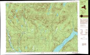 New York Thruway Map by Ny Route 30 The Adirondack Trail Hope Hope Falls Upper Great