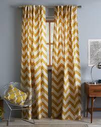 Cotton Canvas Curtains Yellow Cotton Canvas Zigzag Curtain Decor By Color