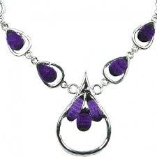 silver purple necklace images Purple teardrop dress necklace women fashion gift costume jewellery uk jpg