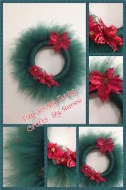 christmas tulle wreath tutu u0027s pinterest wreaths craft