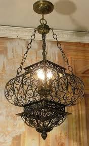 Antique Chandeliers Atlanta Elegant Antique Style Vintage Wrought Iron Cage Chandelier Ceiling