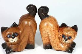 wooden cat ornaments pair of bottoms up cats 4 handmade wood