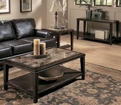 Granite Top Coffee Table Living Room Living Room Furniture Black Glaze Wooden Coffee