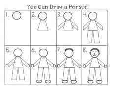 How To Draw A Bed Step By Step How To Draw A Person Motor Skills Drawings And