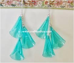 plastic bottle earrings diy recycled earrings ideas recycled things