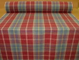 balmoral ruby wool effect washable thick tartan curtain fabric
