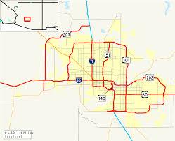 Glendale Arizona Map by Freeway Map Of The Phoenix Area Arizona Maps U0026 Cartographic