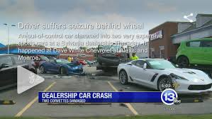 damaged corvettes for sale pair of parked 2015 corvette z06 coupes damaged in