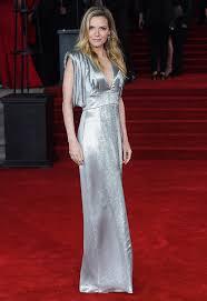 michelle pfeiffer stunning in silver dress at u0027orient express