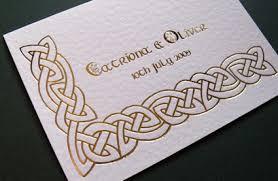 celtic wedding invitations cloveranddot