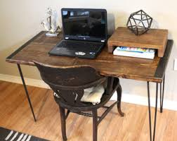 Writing Desk With Chair Reclaimed Wood Desk Etsy