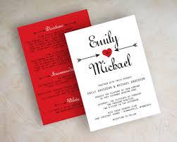 Red And Black Wedding Invitations Wedding Invitations Red Black And White Invitation Sample