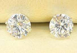 diamond stud earrings uk 925 sterling silver diamond stud earrings 5mm created clear