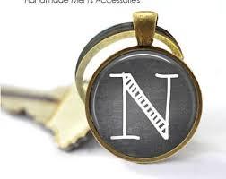 letter k keychain etsy