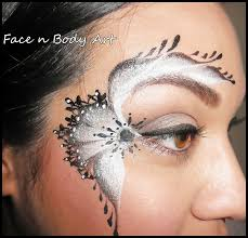 shawna d make up black and white lace face painting tutorial