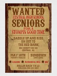 love this western themed party wording you could try picmonkey