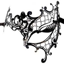 black and white mardi gras masks operetta black asymmetrical metal mask with swarovski crystals