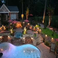 patio landscape led lighting kits create dramatic outdoor