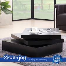 black square coffee table rotating contemporary modern living room