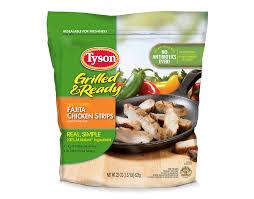precooked frozen chicken fajita strips tyson brand