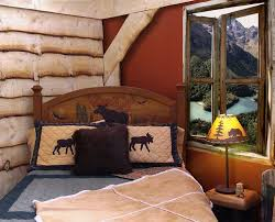 Log Home Bedroom Decorating Ideas by Log Cabin Themed Bedroom Dzqxh Com