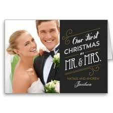 merry and married script photo card personalized