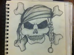 skull and crossbones drawing at getdrawings com free for personal