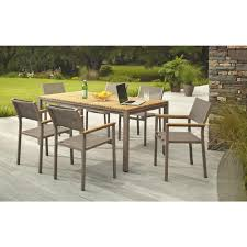 Outdoor Table Set by Hampton Bay Barnsdale Teak 7 Piece Patio Dining Set Set T1840