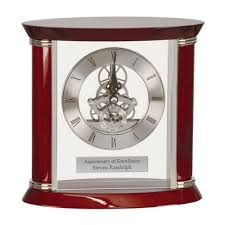 anniversary clocks engraved personalized desk clocks engraved clocks