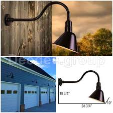 Gooseneck Light Fixture Outdoor by Outdoor Aluminum Barn Light Fixture Vintage Gooseneck Wall Arm